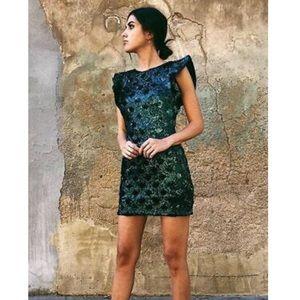 Zara emerald green sequin mini dress
